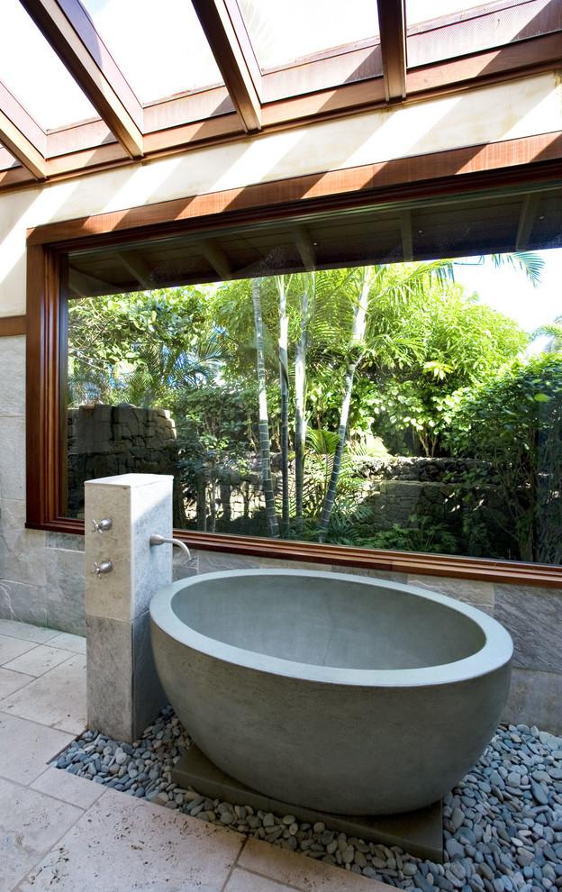 Concreteworks Napali Tub - Tropical - Bathroom - San ...