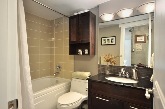 Condo 1 Contemporary Bathroom Vancouver By Le Papillon Designs Ltd