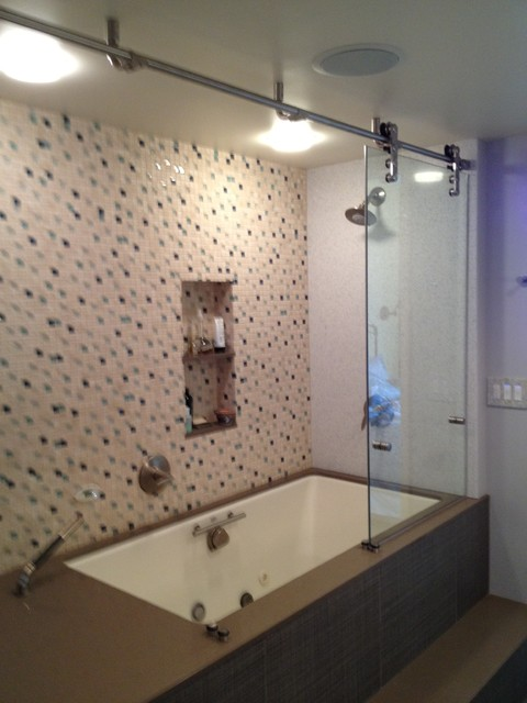 Condo bathroom remodel contemporary bathroom seattle for Condo bathroom remodel ideas