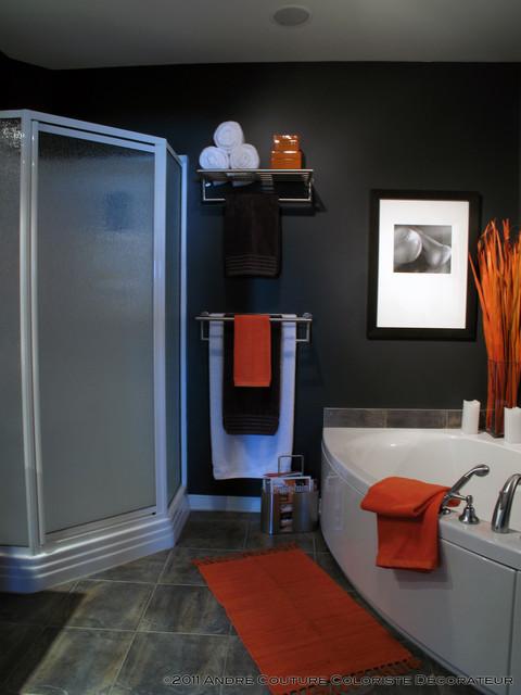 Condo in color contemporary-bathroom
