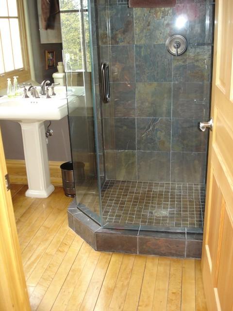 Condo Kitchen & Bath Design traditional-bathroom