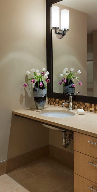 Condo remodel arlington va contemporary bathroom dc metro by carnemark Bathroom remodeling arlington va