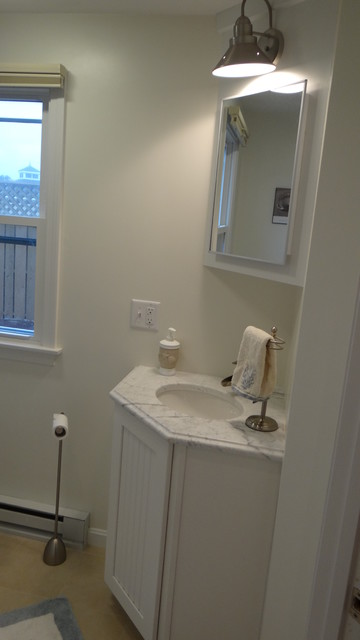 Condo Renovation traditional-bathroom