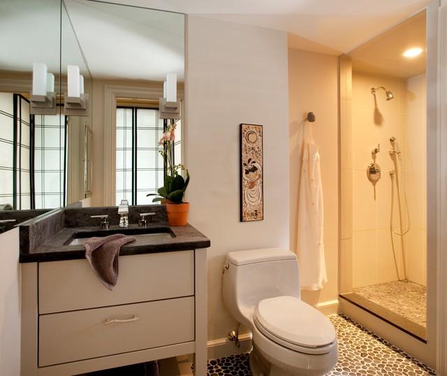 Condo Renovation Modern Bathroom Boston By S H Construction