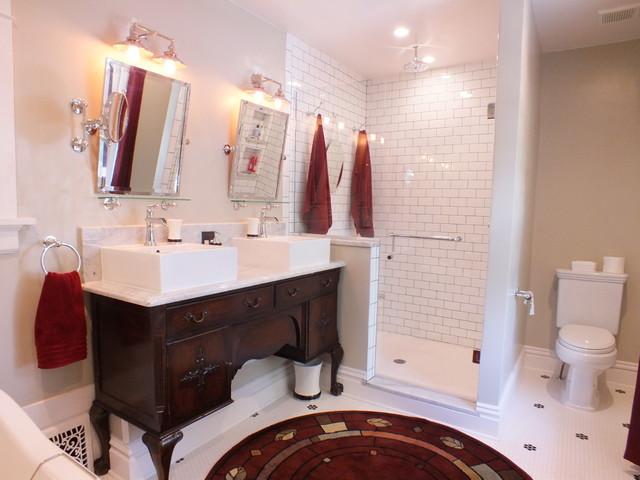 Congress Park Period Bathroom craftsman-bathroom