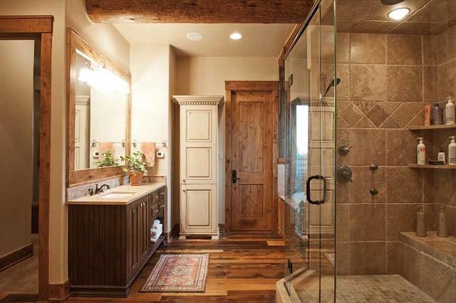 Conifer Colorado Mountain Ranch Home Rustic Bathroom Denver By Landmark Traditions