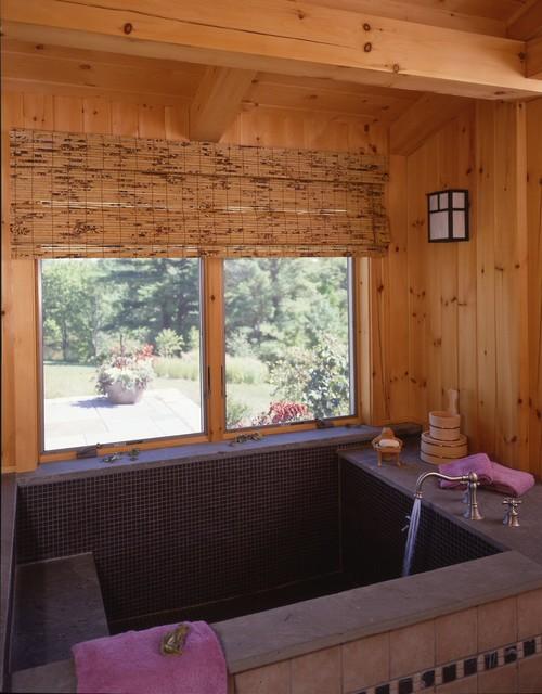 Connecticut Style Barn Home farmhouse-bathroom