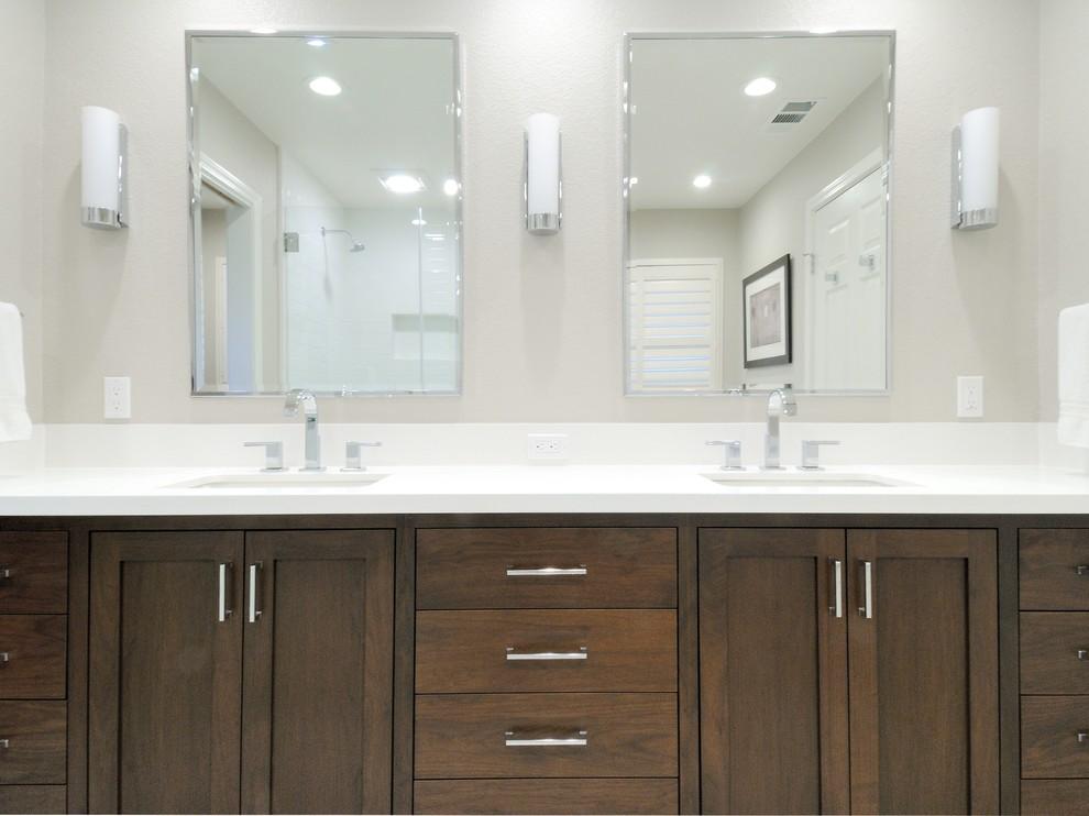 Contemporary and Bright Twin Bathrooms - Contemporary ...