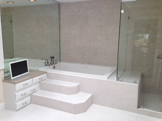 Contemporary classic master bath contemporary for Classic master bathrooms