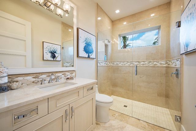 Contemporary And Transitional Style Home In Naples FL - Bathroom cabinets naples fl