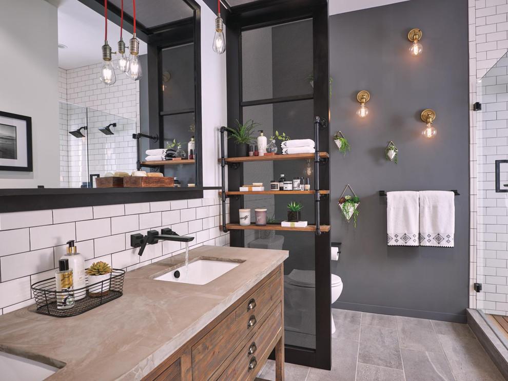 Contemporary Bath - Industrial - Bathroom - Indianapolis ...
