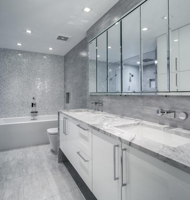 contemporary bath renovation 2015 washington dc