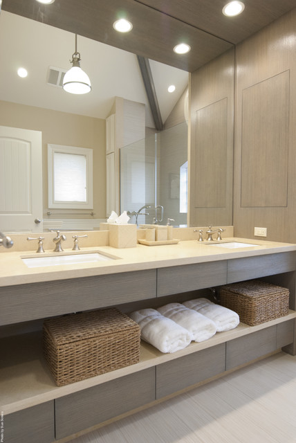 Contemporary bathroom - Salle de bain zen ...