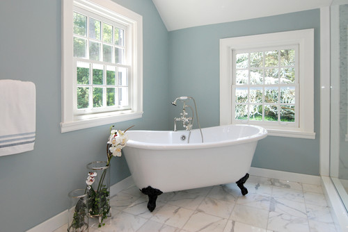 Remodelaholic | Best Paint Colors for Your Home: LIGHT BLUES on best white color for bathrooms, best yellow color for bathrooms, best blue wall paint for bathrooms,