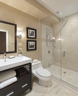 Port Credit Townhome modern bathroom