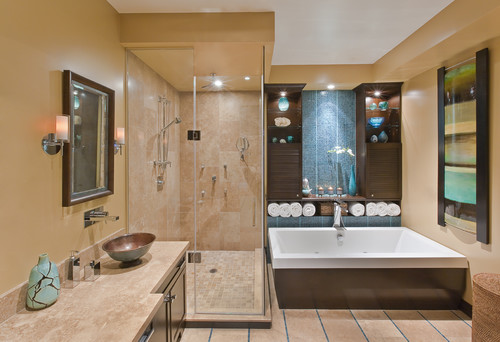 Port Credit Townhome modern bathroom design by Avalon Interiors