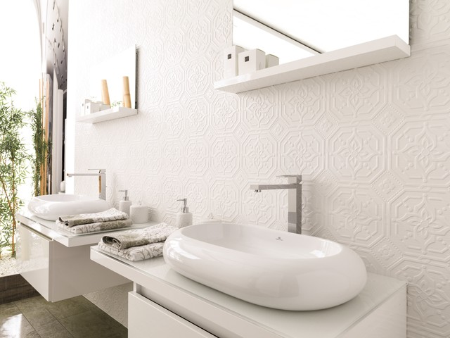 Patterned Feature Tiles Zoe Blanco Contemporary