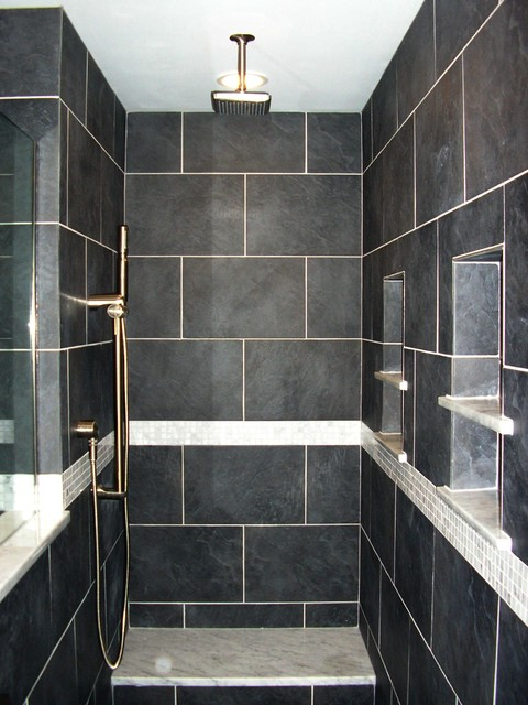 Contemporary Bathroom Custom Shower No Door contemporary bathroom