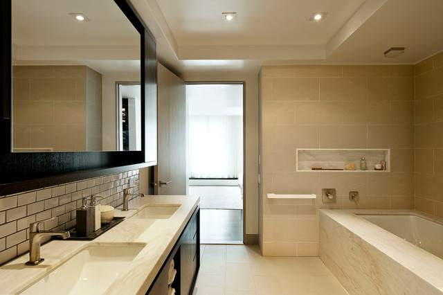 modern bathroom by David Howell Design