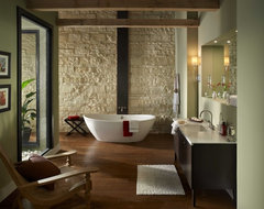 Eldorado Stone Oyster Cut Coarse Stone contemporary bathroom