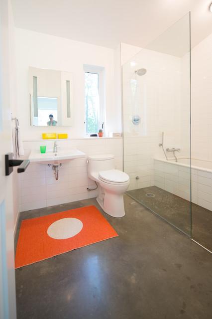 contemporary bathroom. Black Bedroom Furniture Sets. Home Design Ideas