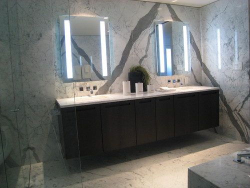 white marble in houston bathroom supplier