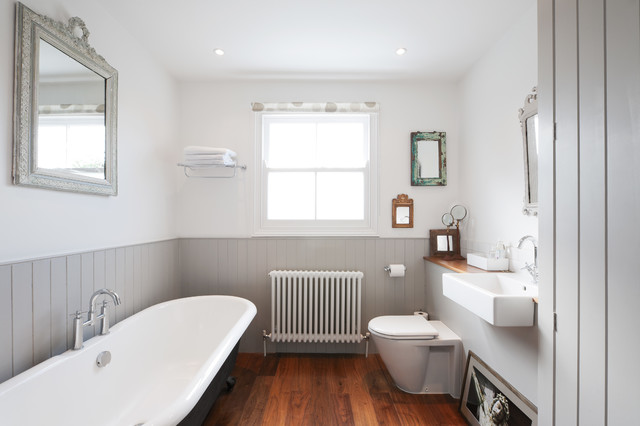 10 fresh design ideas for grey bathrooms for Historic bathroom remodel