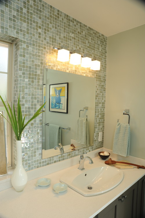 Bathroom Sconces Placement placement of light above mirror