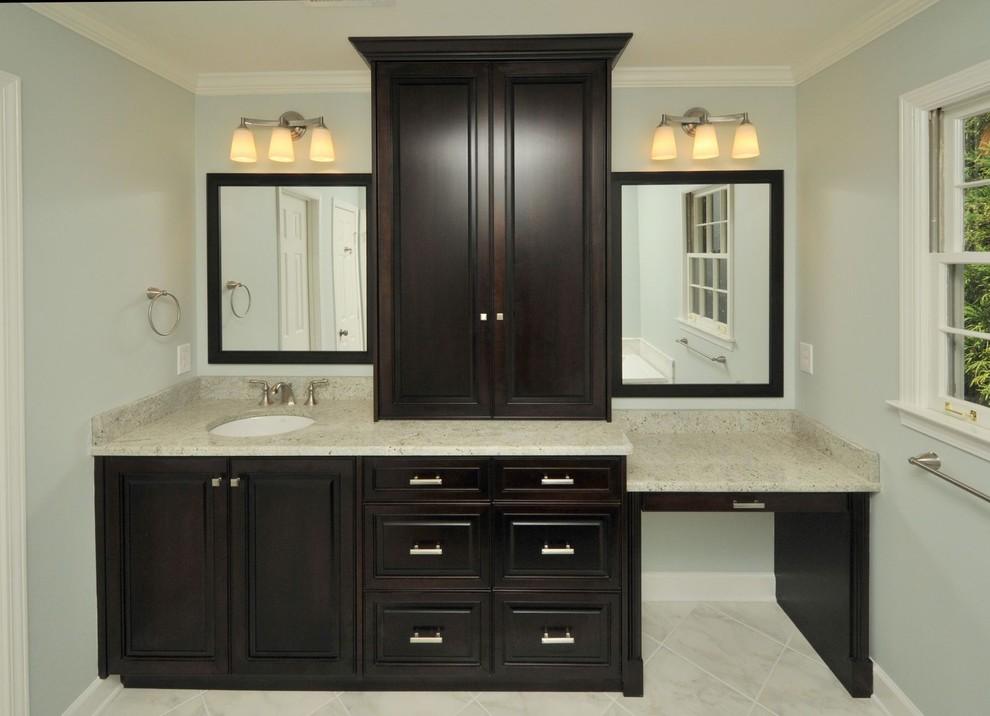 Trendy bathroom photo in Atlanta with granite countertops