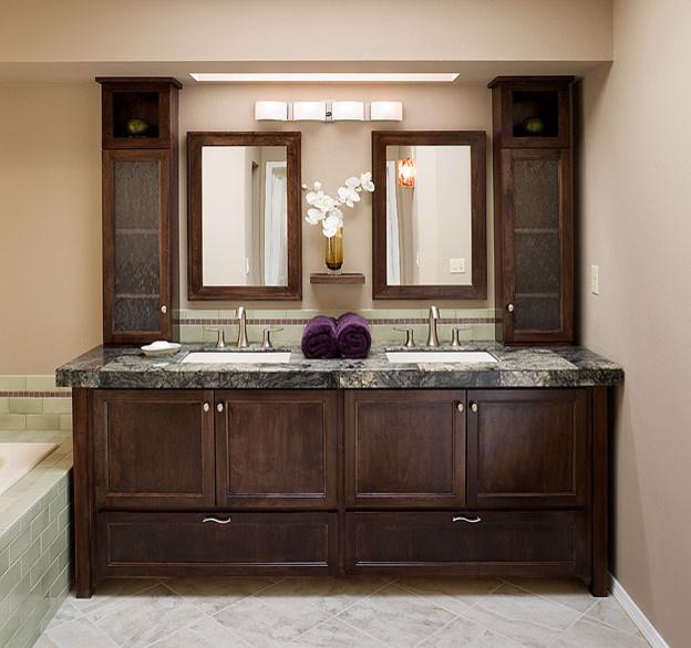 Contemporary Bathroom, Bathroom Counter Cabinets