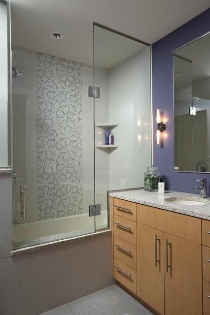 Modern masterpiece guest bathroom contemporary for Contemporary guest bathroom ideas