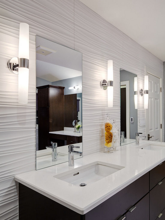 Large bathroom design ideas renovations photos with a for Two piece bathroom ideas