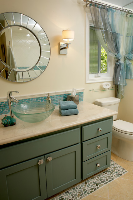 California ranch remodel contemporary bathroom other for Ranch bathroom design