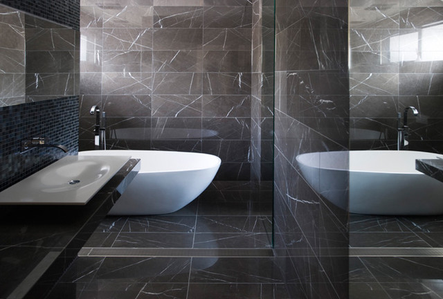 Popular These 20 Tile Shower Ideas Will Have You Planning Your Bathroom Redo And Renovation In No Time  Off With This Gorgeous Bronze Subway Tiled Shower Paired With A Marble Tub, This Grey Tones Spark A Warm And Relaxing Tone For
