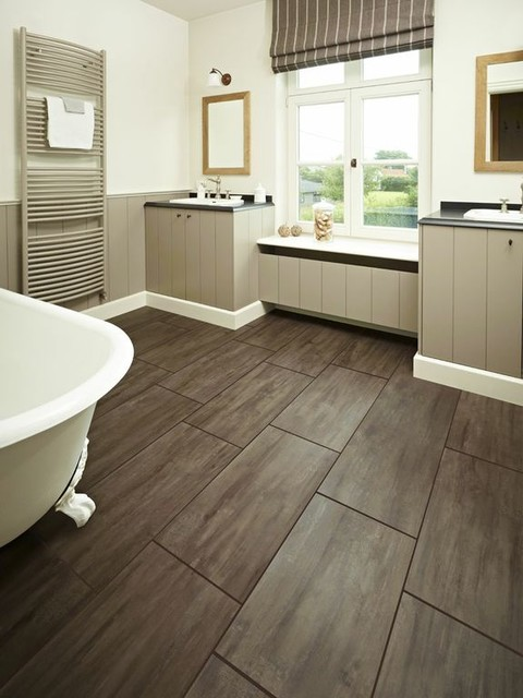 Bathrooms Contemporary Vinyl Flooring Other Metro