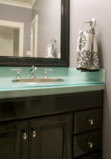 Bathroom Vanity Glass Top glass vanity top