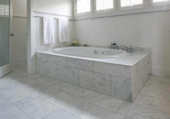 Product in addition Light Colors in addition Spa Like Master Bath With Glass Chandelier And Pedestal Tub Traditional Bathroom Austin also Chipperfield fayland house in addition Watch. on carrara marble bathroom