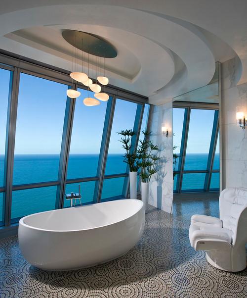 панорамный вид в ванной