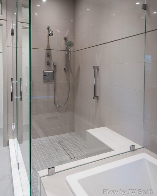Master bathroom redesign alexandria va contemporary for Redesigning a bathroom