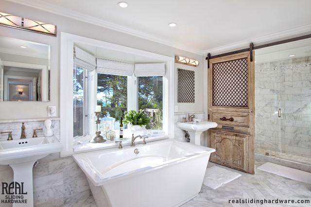 Barn Door Installations Contemporary Bathroom Other Metro By Real Sli