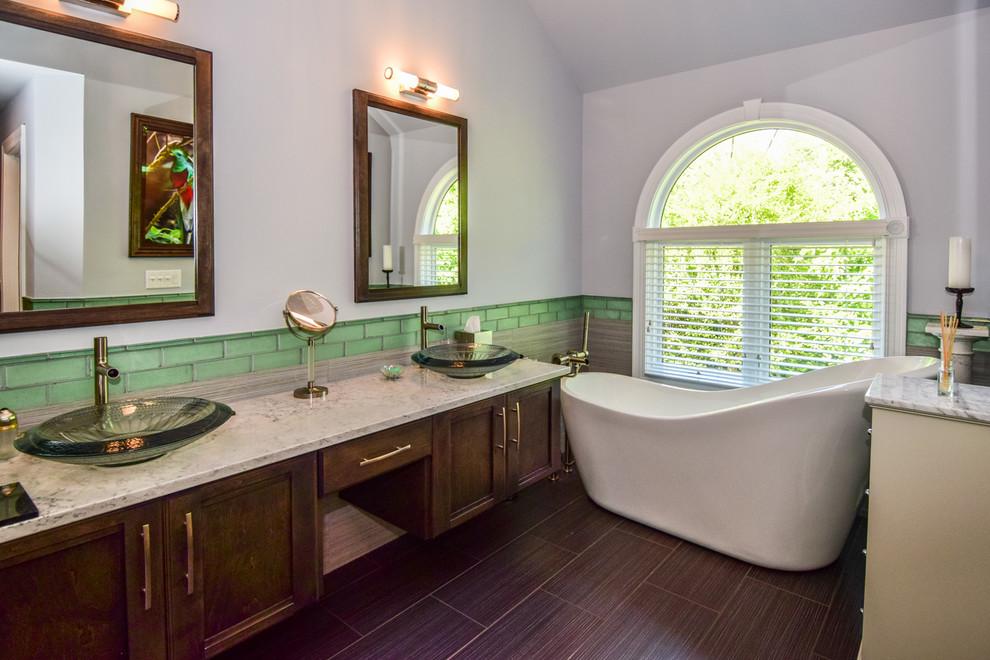 Contemporary Bathroom Remodel in Winfield, IL ...