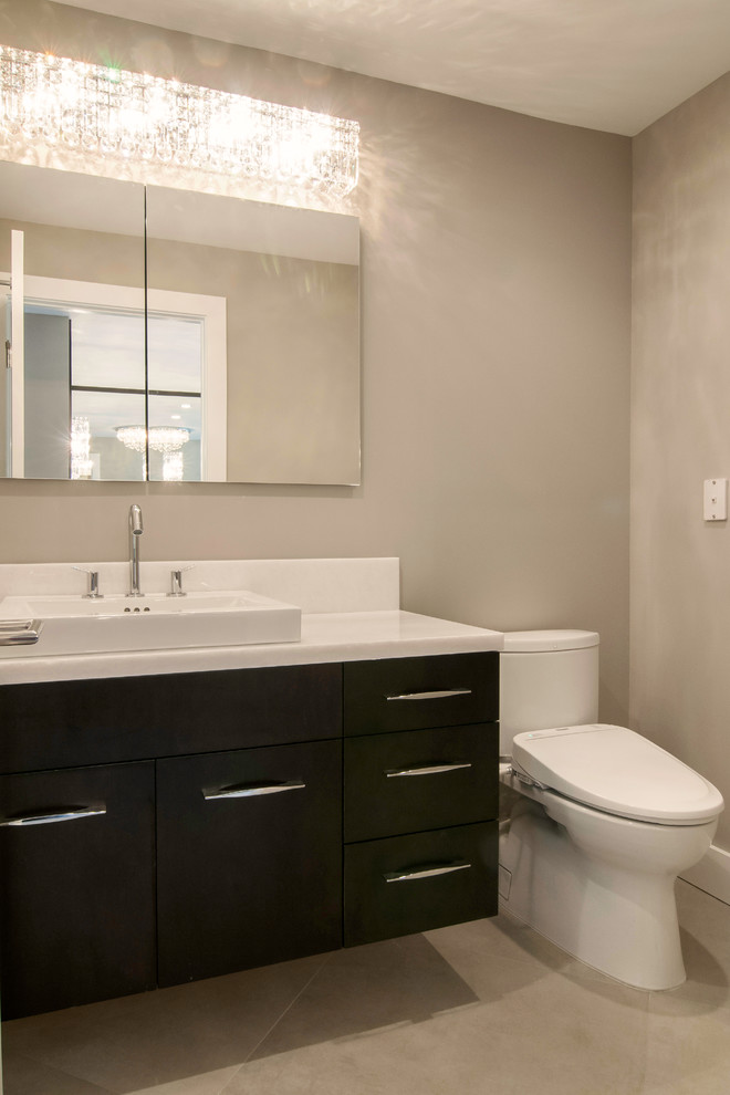 Inspiration for a contemporary bathroom remodel in Miami