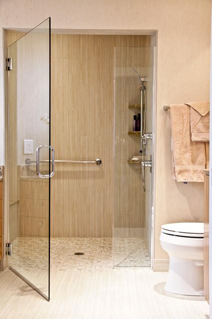 Neutral Tone Bathroom - Contemporary - Bathroom - other ...