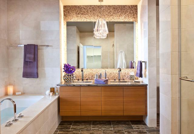 Ritz-Carlton Residences at LA Live contemporary-bathroom