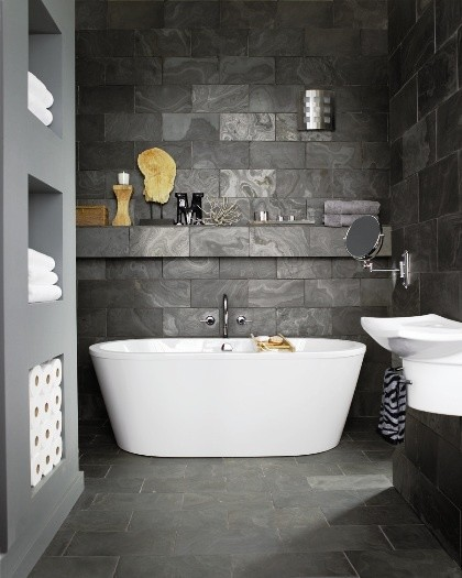 Bathroom Slate Wall Tiles. Contemporary Bathroom Contemporary Bathroom