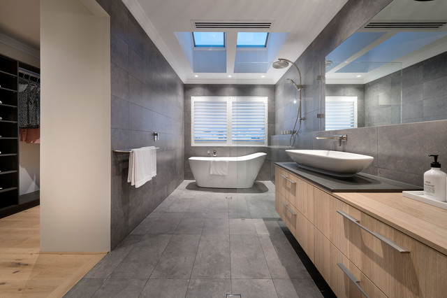 The Kuro Display Home Contemporary Bathroom Perth By Webb - Webb bathroom remodeling