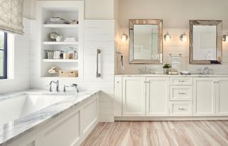 Contemporary Bathroom With Stickley Door Style In Arctic