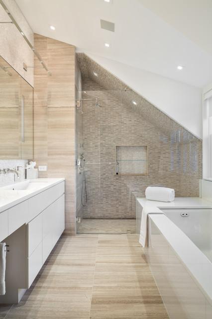 Modern retreat contemporary bathroom new york by for Bathroom design 7x12