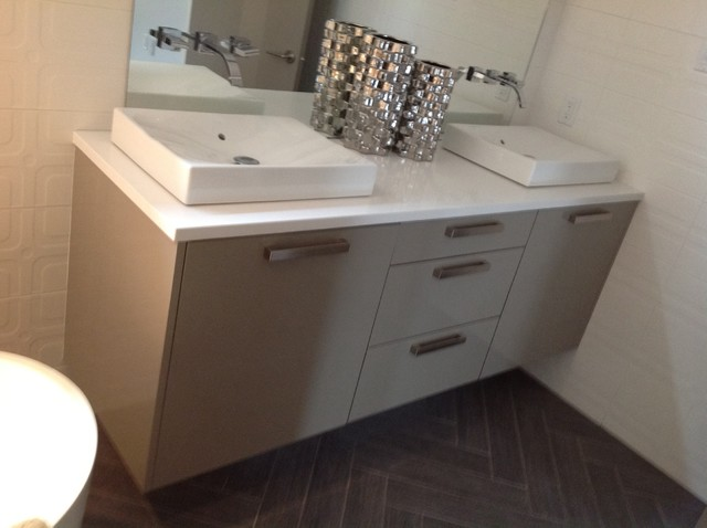 Contemporary bathrooms for A z kitchen cabinets ltd calgary