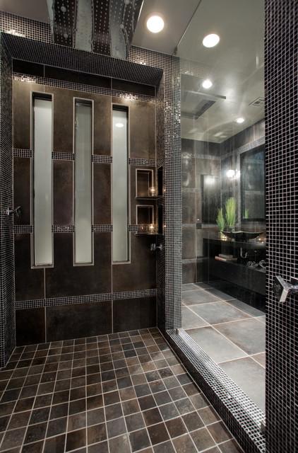 Contemporary Black And Gray Master Bathroom Contemporary Bathroom Phoenix By Chris